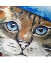 Cat with beret hat