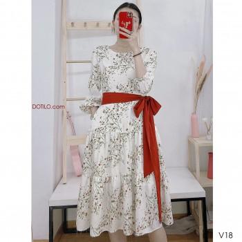 WHITE FLOWER SMALL  DRESS