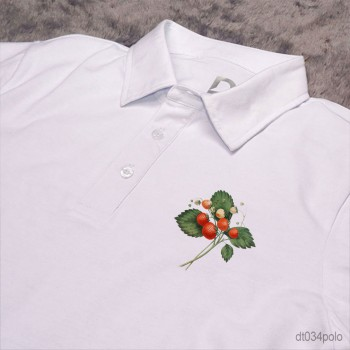 Strawberry in Paradise Pocket Polo