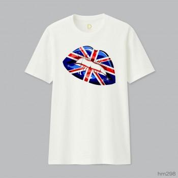 England Flag Lipstick On Smiling