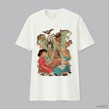 Wonderlands Alice Chihiro Cheshire Ghibli