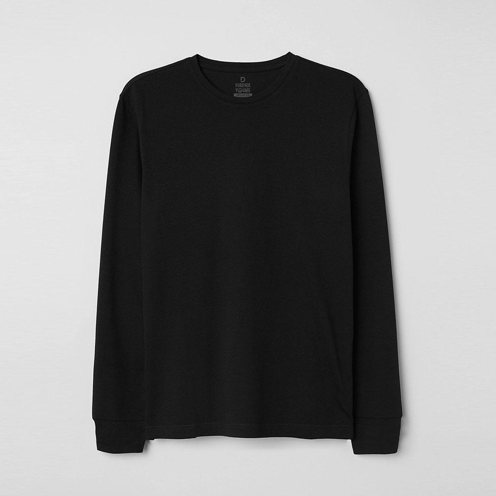 Áo thun tay dài - Màu đen