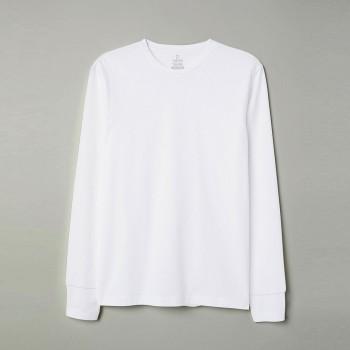 Áo thun tay dài - Màu trắng
