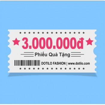 Phiếu quà tặng  3,000,000đ